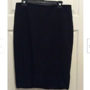 Reiss Skirt US 8 Black Solid Straight Pencil Lined
